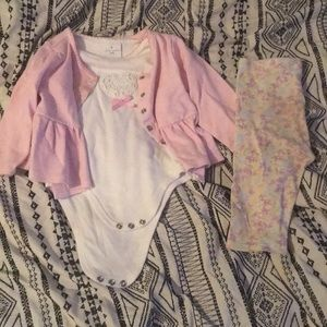 Other - Laura Ashley cardigan Tee and Leggings Set.